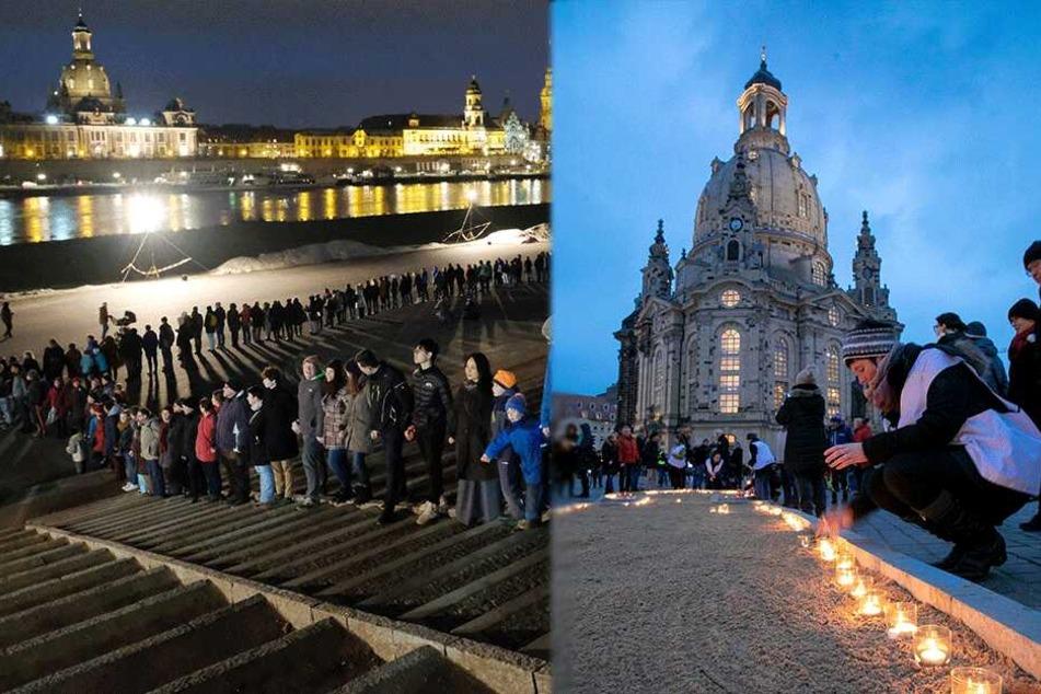 Dresden: Tausende Dresdner gedenken der Bombennacht