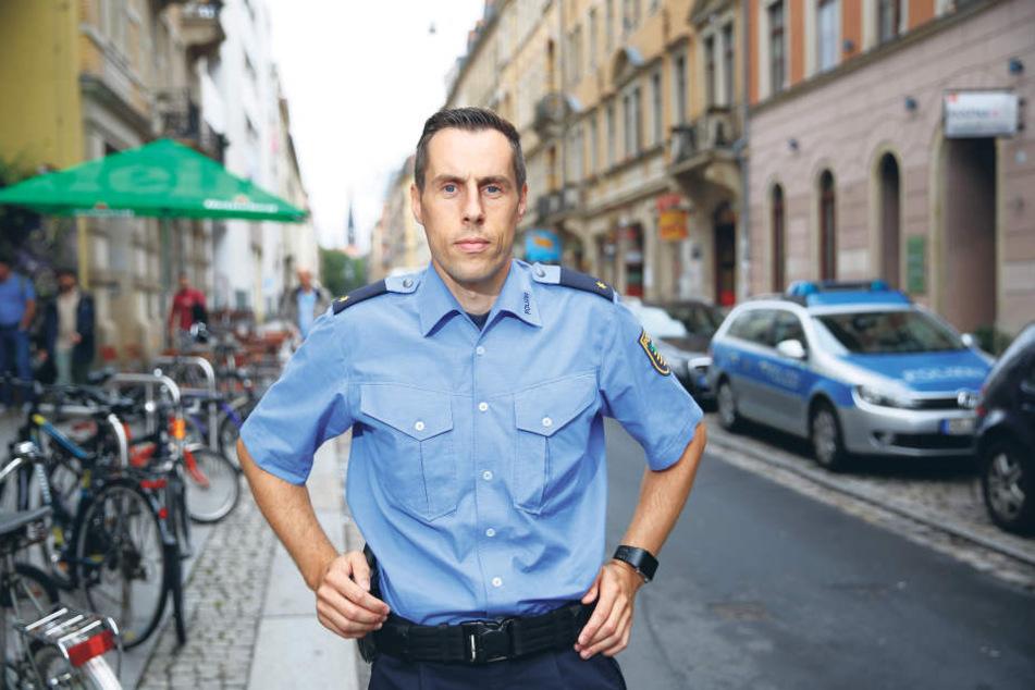 Matthias Imhofs (36) Revier ist die Dresdner Neustadt.