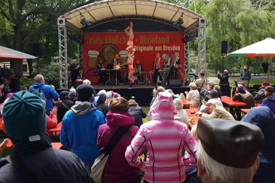 Kühler Auftakt für 46. Dixieland-Festival in Dresden