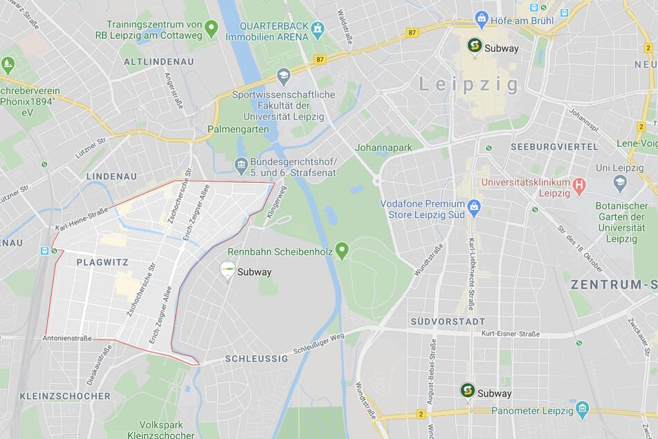 Tatort war der Stadtteil Plagwitz im Leipziger Westen.