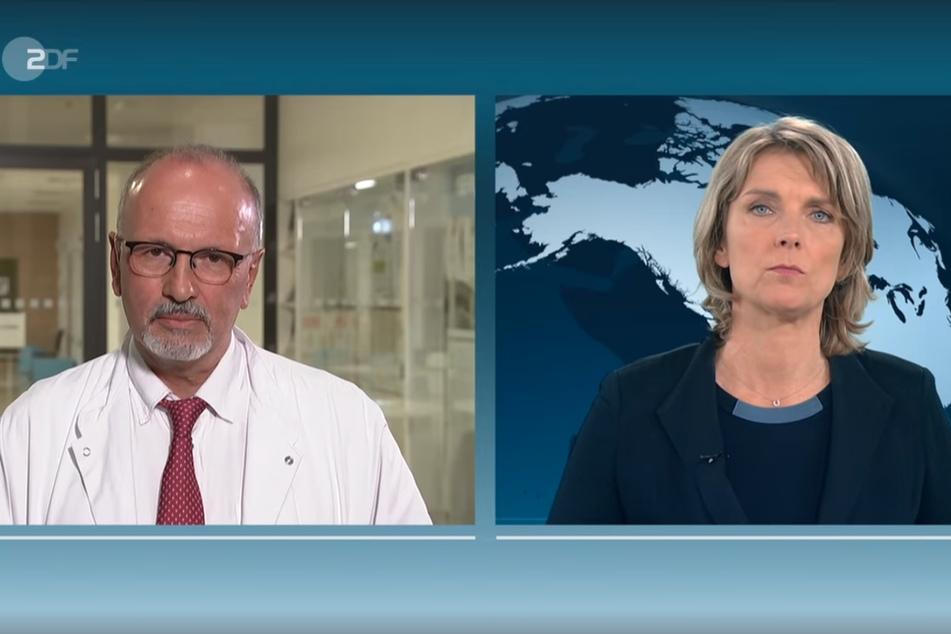 Professor Michael Bauer, Chefarzt Anästhesiologie und Intensivmedizin Universitätsklinik Jena sprach am Donnerstag im ZDF heute-journal bei Marietta Slomka über die aktuelle Corona-Lage.