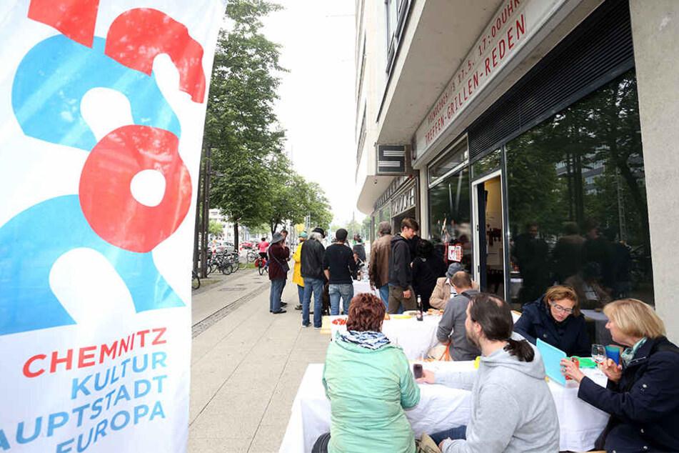 Auch Chemnitz will Kulturhauptstadt werden. Um das zu befördern, gab es im Mai ein Picknick an der Brückenstraße.