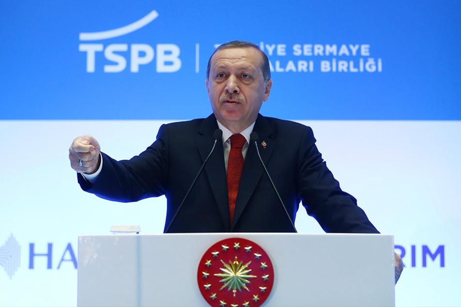 Der türkische Präsident Recep Tayyip Erdogan stand beim Landesparteitag der Linken in der Kritik.