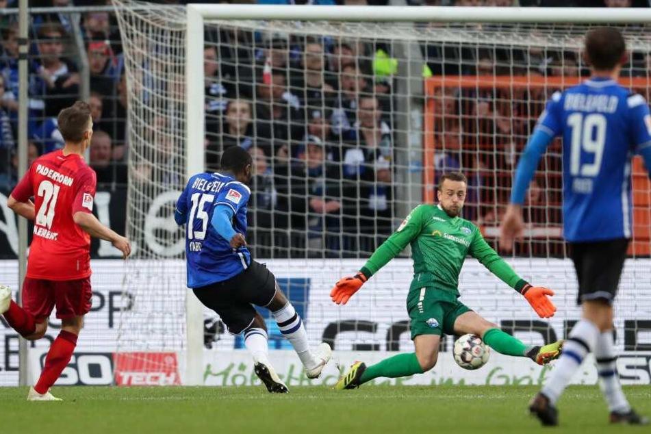 Arminia Bielefeld erspielte sich gegen den SC Paderborn mehr Torchancen.