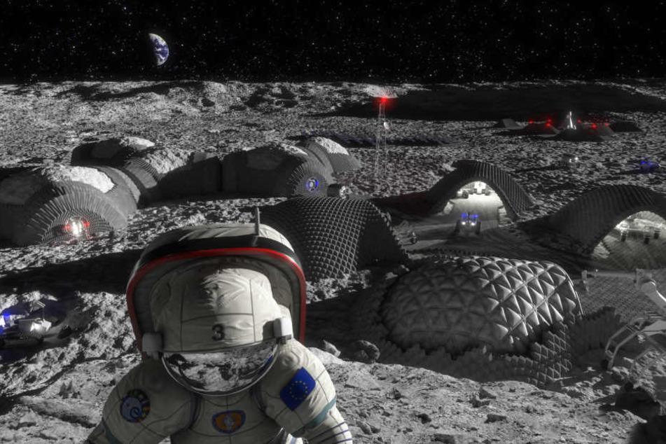 Eine Mondmission wie in dieser Visualisierung könnte in Zukunft wieder geplant werden.