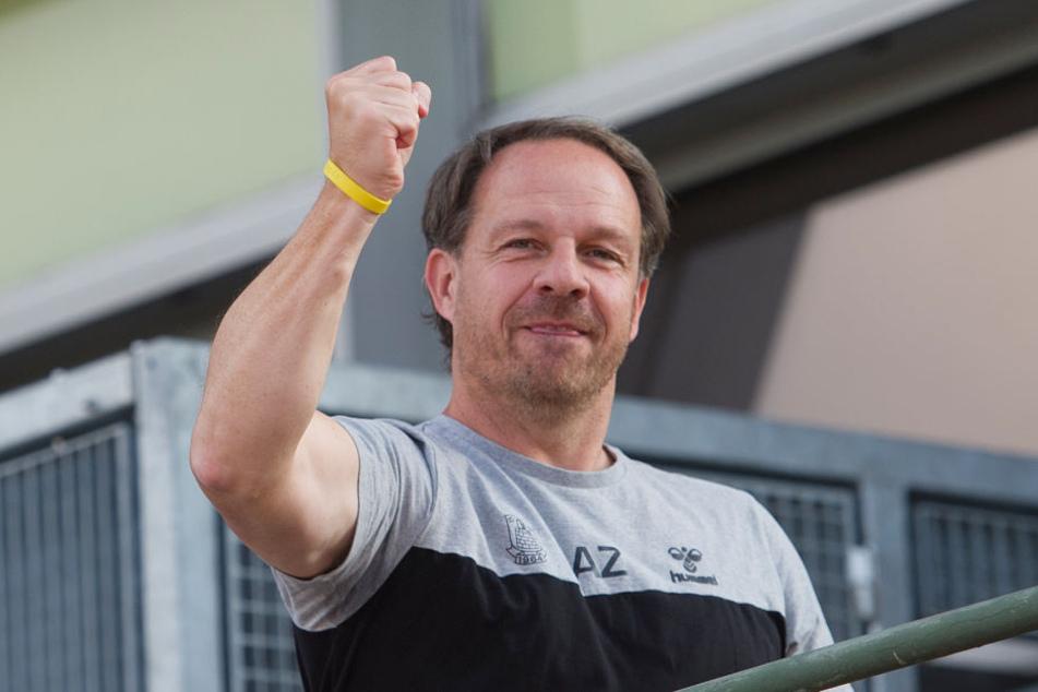 Da freut sich einer! Alexander Zorniger - Ex-Trainer von RB Leipzig - wird mit 50 Jahren Vater.