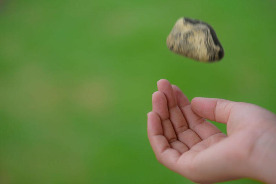 Unbekannte warfen mit Steinen nach einem IC-Zug. (Symbolbild)