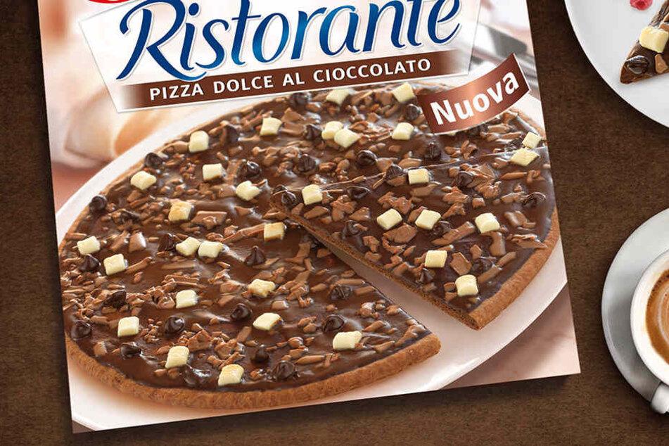 Ab April gibt es die Schokoladen-Pizza für 2,69 Euro in den Läden in Deutschland.