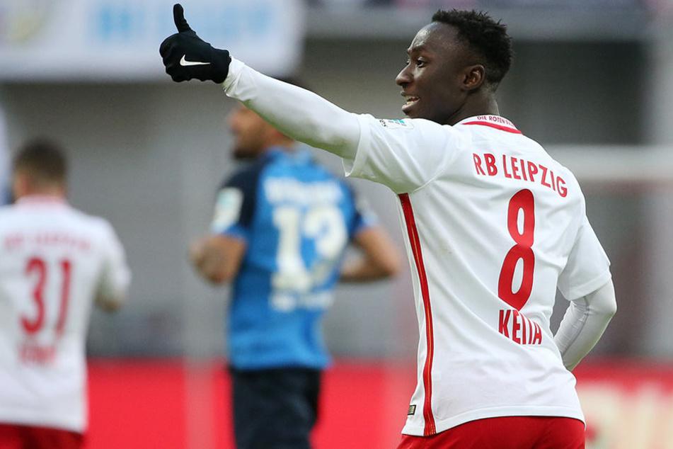 Punktegarant für RB: Naby Keita sammelte in 23 Spielen bereits 14 Scorerpunkte, beim 4:0 gegen Darmstadt traf er doppelt.