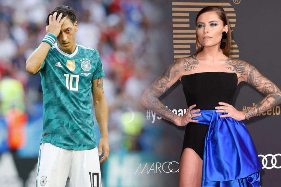 Mesut Özil muss sich von Sophia Thomalla einiges anhören.
