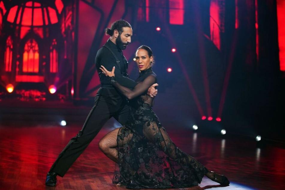 Barbara Becker (52) und und Massimo Sinató (38) zeigten eine Gala-Vorstellung.