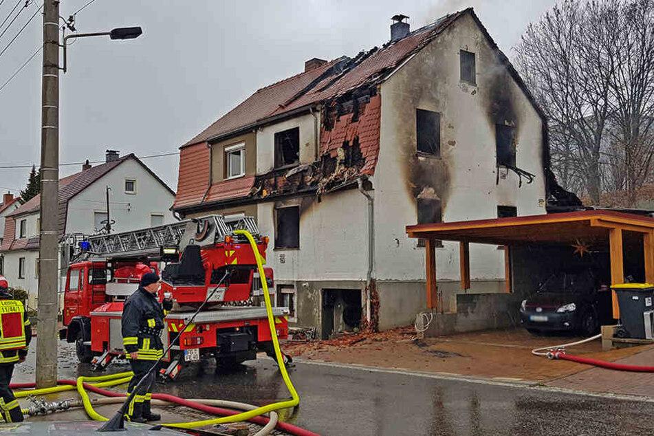 In diesem Haus spielte sich das Feuer-Drama von Leisnig ab.