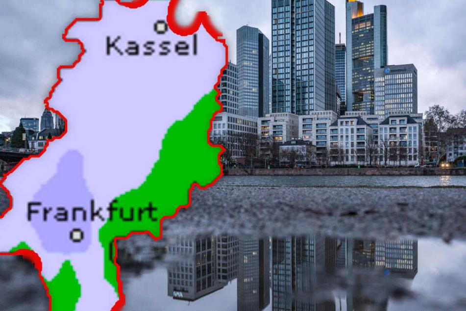 Fotomontage: Regen, Sonne, Wolken - in den kommenden Tagen ist in Hessen alles dabei (Symbolbild).