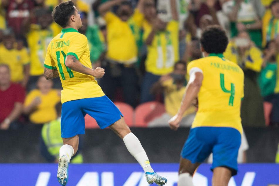 Philippe Coutinho (l.) hat im Dress der Selecao eine starke Leistung gezeigt.