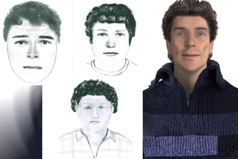 Mit diesen vier Phantombildern jagte die Polizei bisher erfolglos nach dem Sextäter.