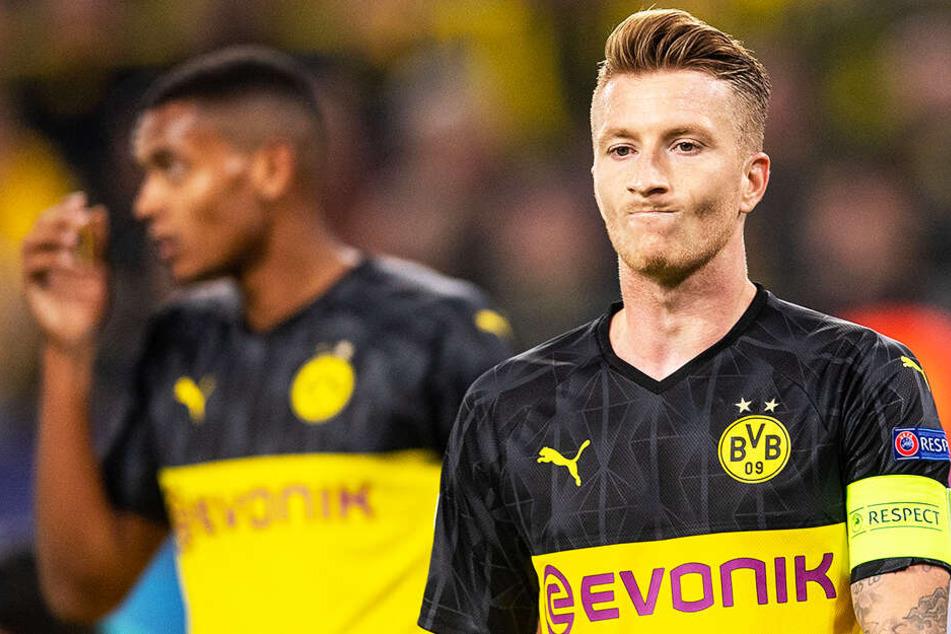 Bitter! BVB-Kapitän Marco Reus vergab einen Elfmeter.