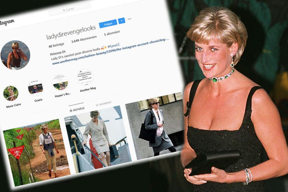 Lady Di als sexy Racheengel: So herrlich feiert Instagram Prinzessin Diana
