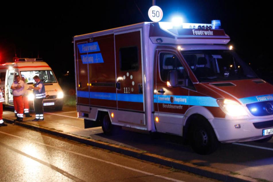 Die Feuerwehr musste in Augsburg mit einem Großaufgebot anrücken.