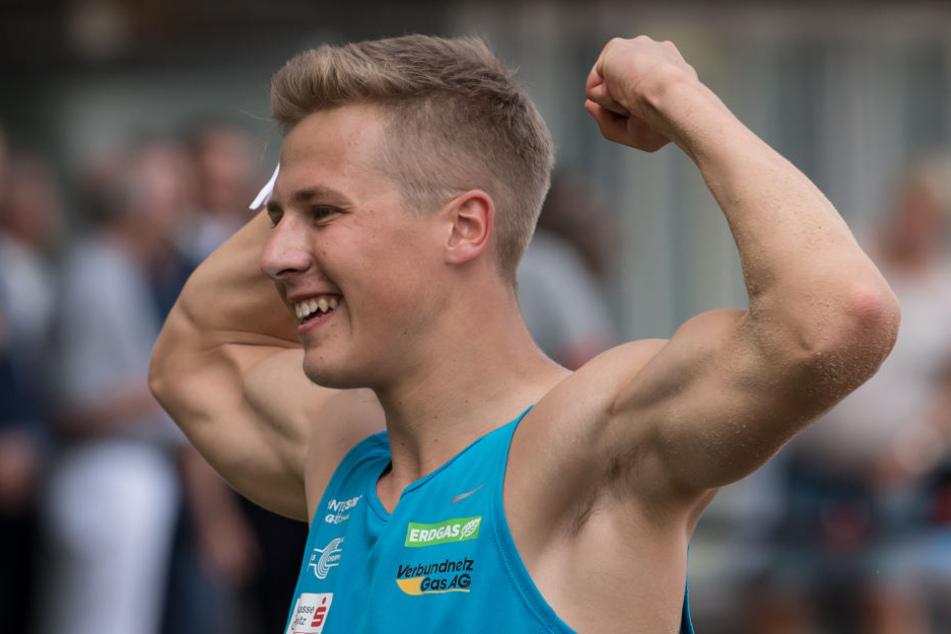 Der deutsche Rekordhalter Max Heß sprang am Samstag im vierten Versuch auf 16,68 Meter und gewann damit vor dem Polen Karol Hoffmann (16,35)