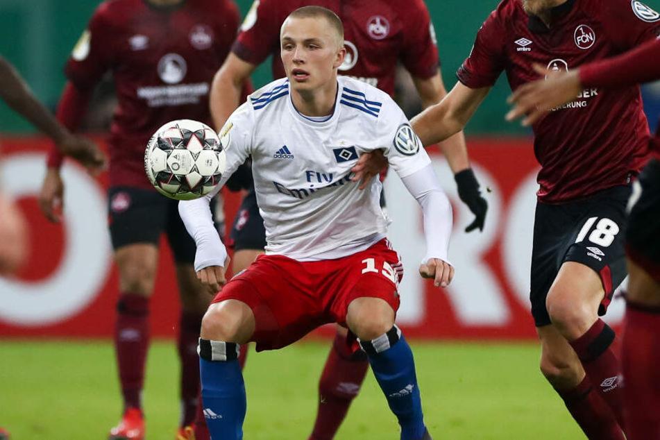 Youngster Fiete Arp wird den Hamburger SV bald verlassen. (Archivbild)
