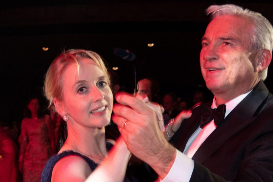 November 2018: Thomas Strobl (rechts) tanzt auf dem Presseball mit Isabell Knüttgen, der Ehefrau des Vorsitzenden der Landespressekonferenz.