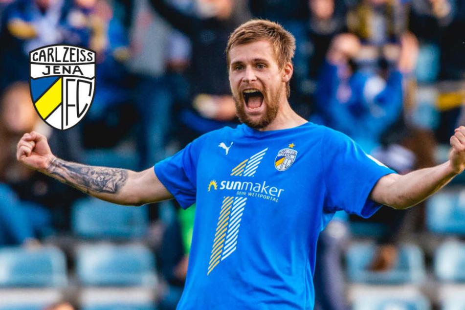 Endlich! FC Carl Zeiss Jena holt gegen Hansa Rostock ersten Saisonsieg