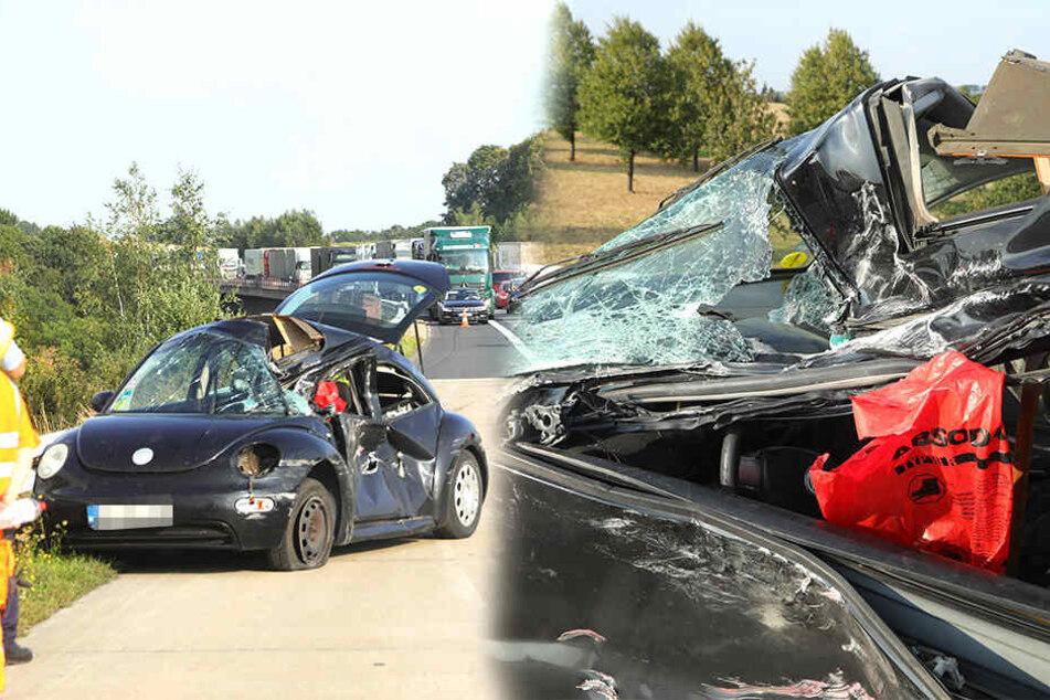 Dresden: Vollsperrung auf A4! Mega-Stau nach Unfall am Dreieck Nossen