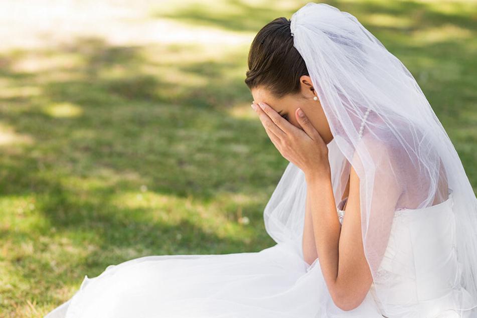 Die Braut ist völlig verzweifelt. (Symbolbild)