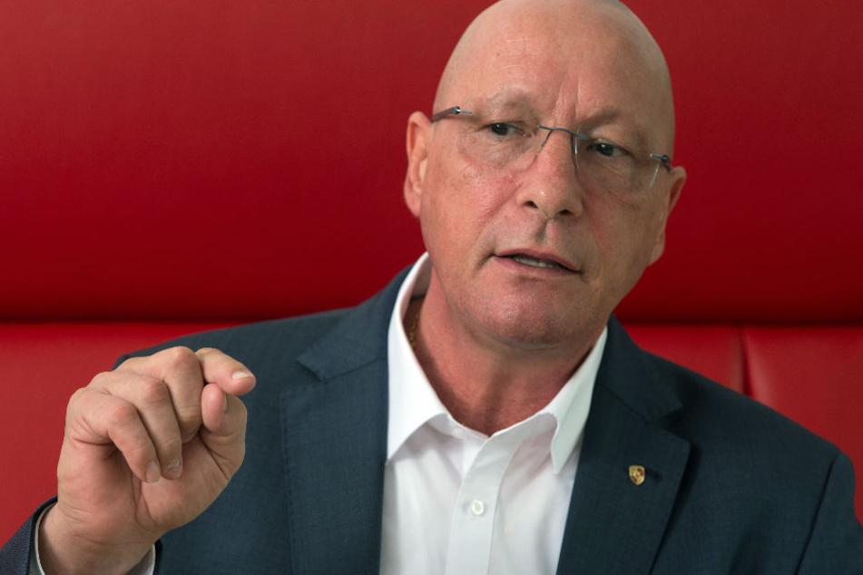 """""""In der Opposition kann man nur schimpfen"""": Porsche-Betriebsratschef Uwe Hück."""