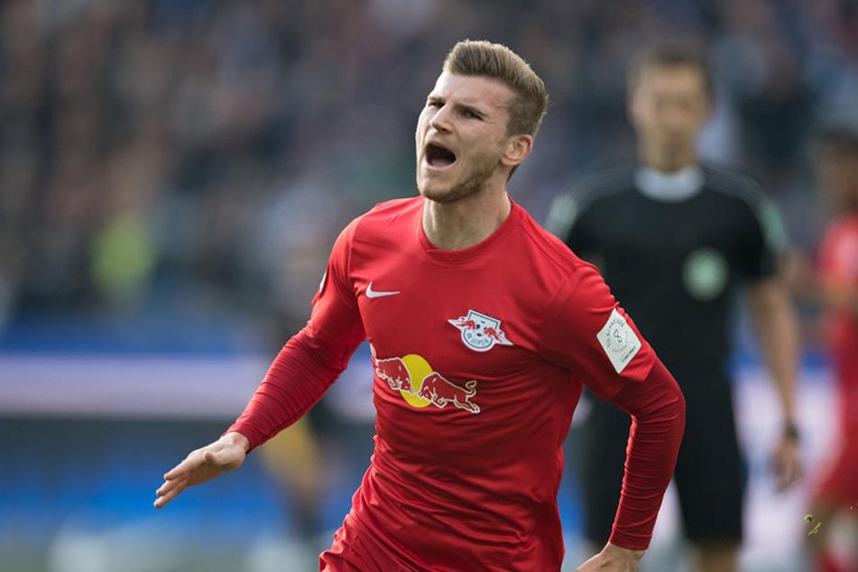 Traf zweimal beim Auswärtssieg in Berlin: Stürmer Timo Werner.