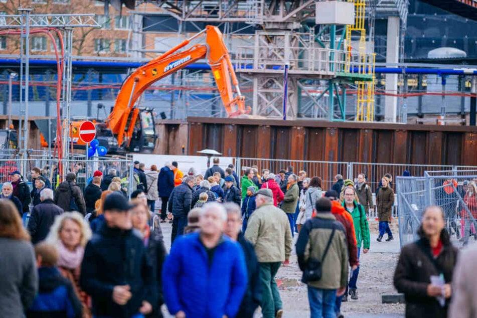 Besucherrekord! Über 40.000 wollen Stuttgart-21-Baustelle sehen