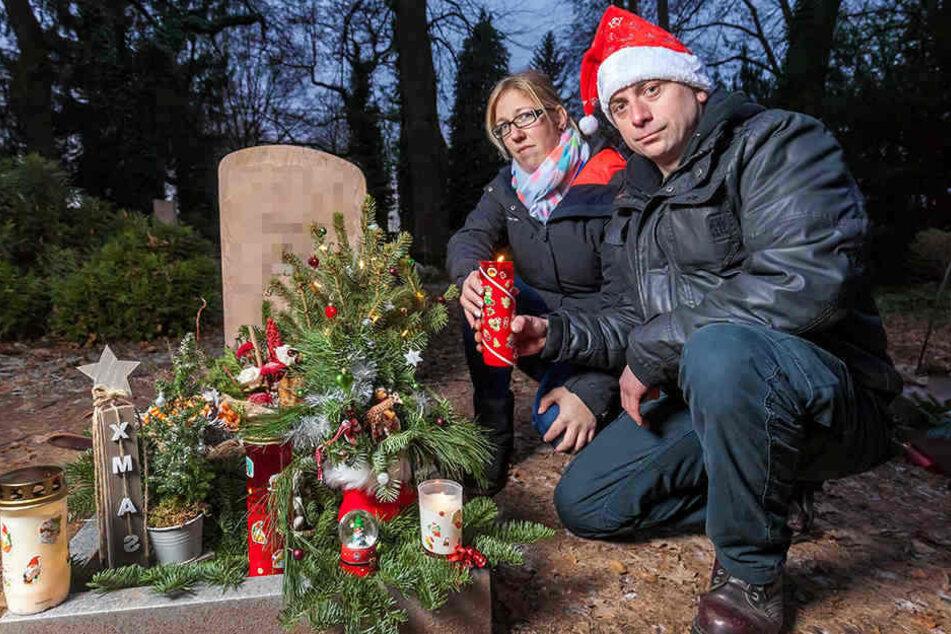 Das Grab ihres kleinen Lukas ist für die Eltern ein Zufluchtsort.