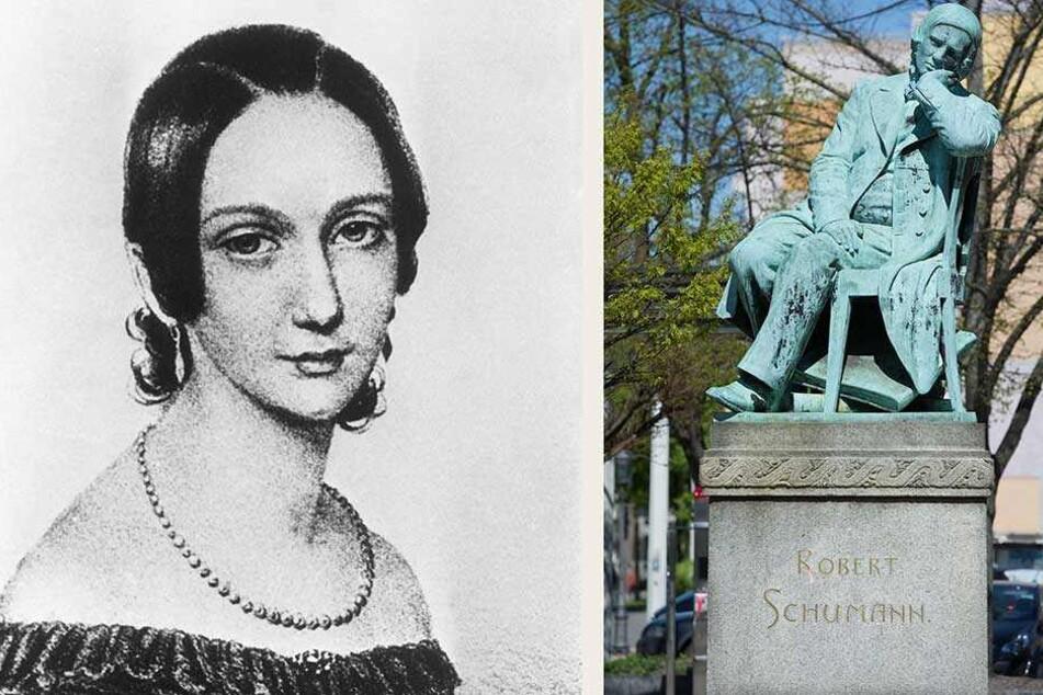 Zur Feier von Robert Schumanns (re.) Geburtstag am 8. Juni 2019 oll auch an seine Frau Clara Wieck (li.) erinnert werden.