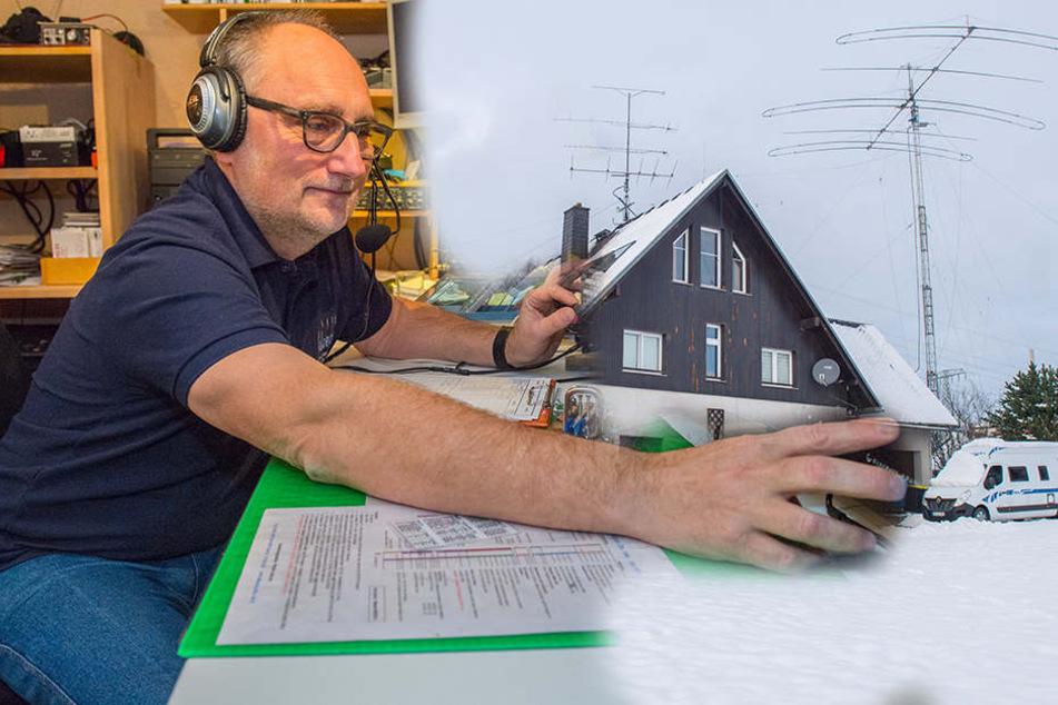 Falls nix mehr geht: Erzgebirger baut Notfall-Station mit CB-Funk auf