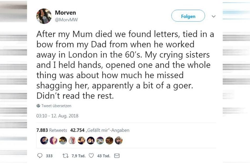 Abbruch: In ihrem Tweet, erklärt Morven die Situation.