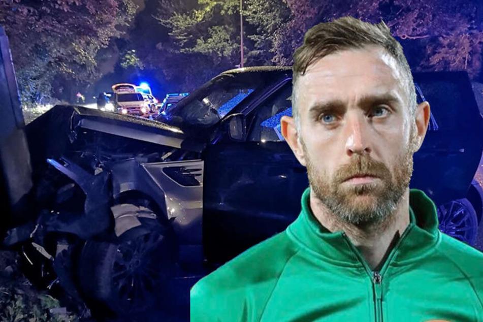 Suff-Fahrt endet mit Unfall: Für diesen Fußball-Profi ist die Saison gelaufen!