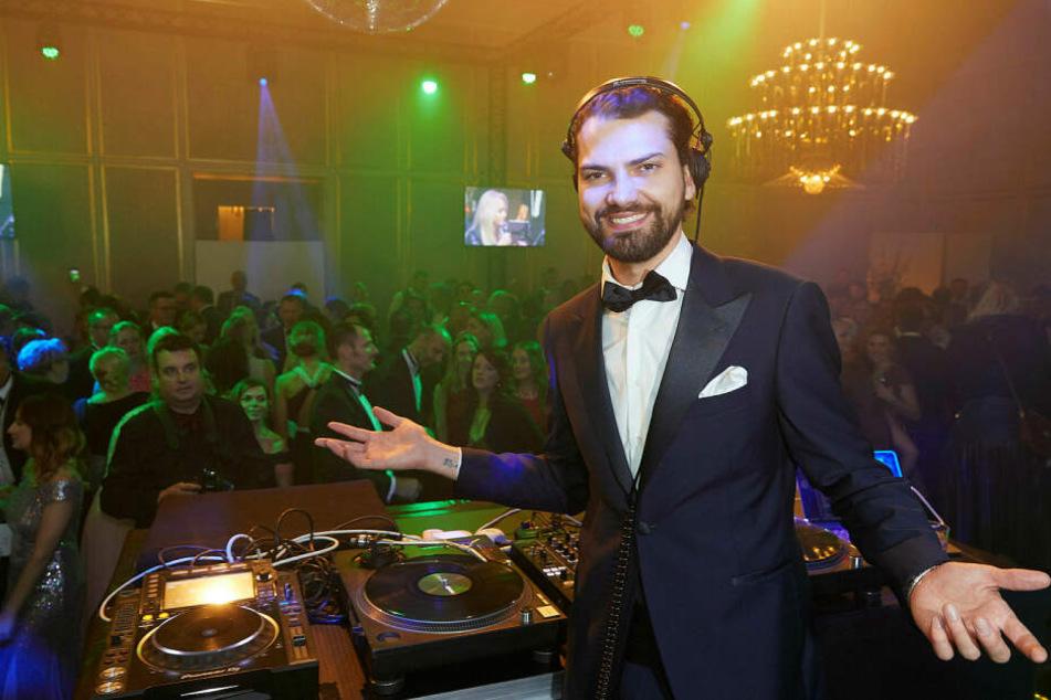 """""""Wilde Kerle""""-Schauspieler Jimi Blue Ochsenknecht (27) legte nach Mitternacht als DJ auf."""