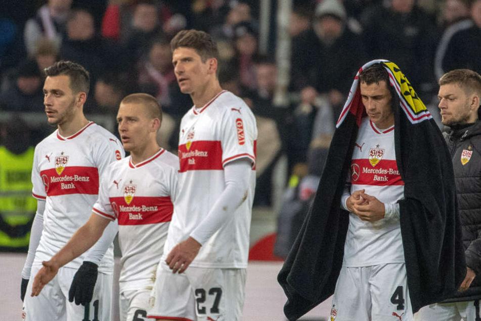Nach der 2:3-Pleite gegen Mainz 05: Enttäuschung pur bei den VfB-Schützlingen.