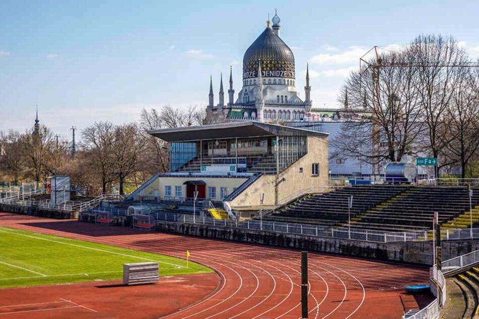 Das Heinz-Steyer-Stadion der Friedrichstadt  ist marode.