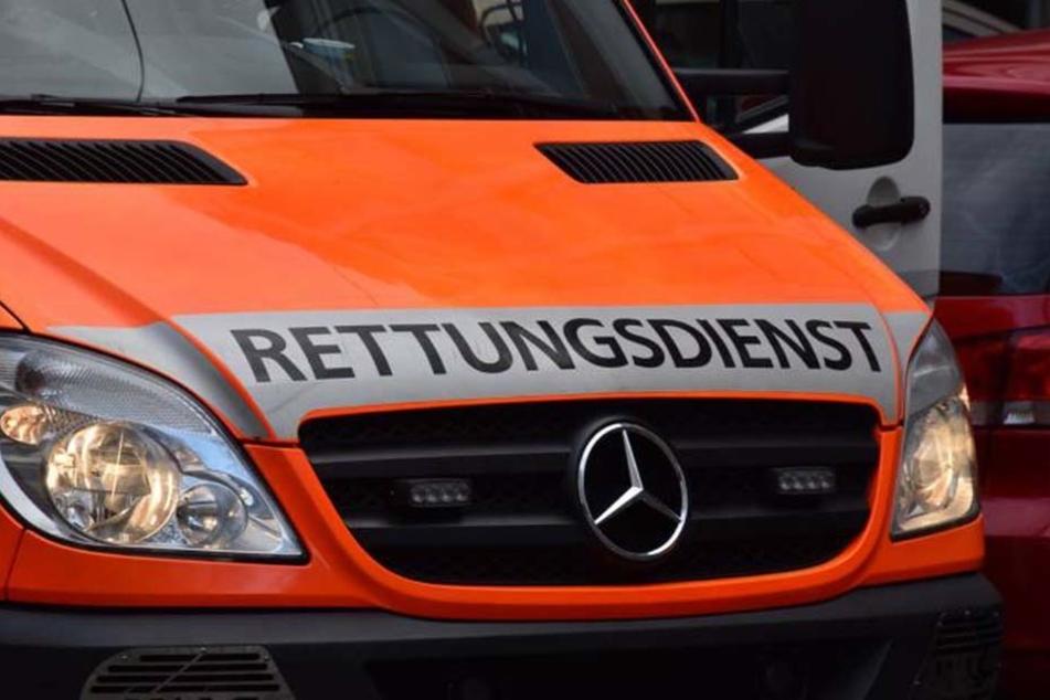 Der Rettungsdienst musste die drei Männer versorgen.