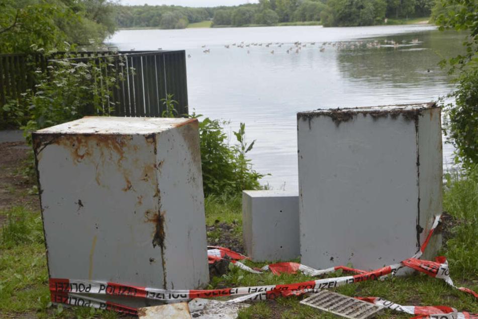 Drei Tresore wurden aus dem Öjendorfer See gefischt.