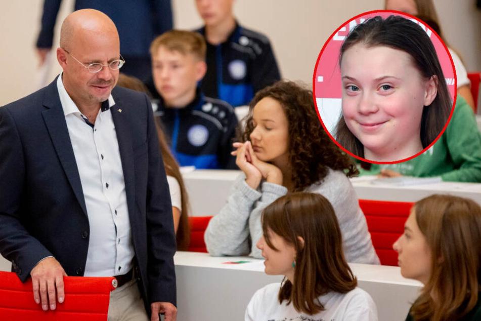Brandenburgs AfD-Chef Kalbitz beleidigt Greta Thunberg bei Schüler-Debatte