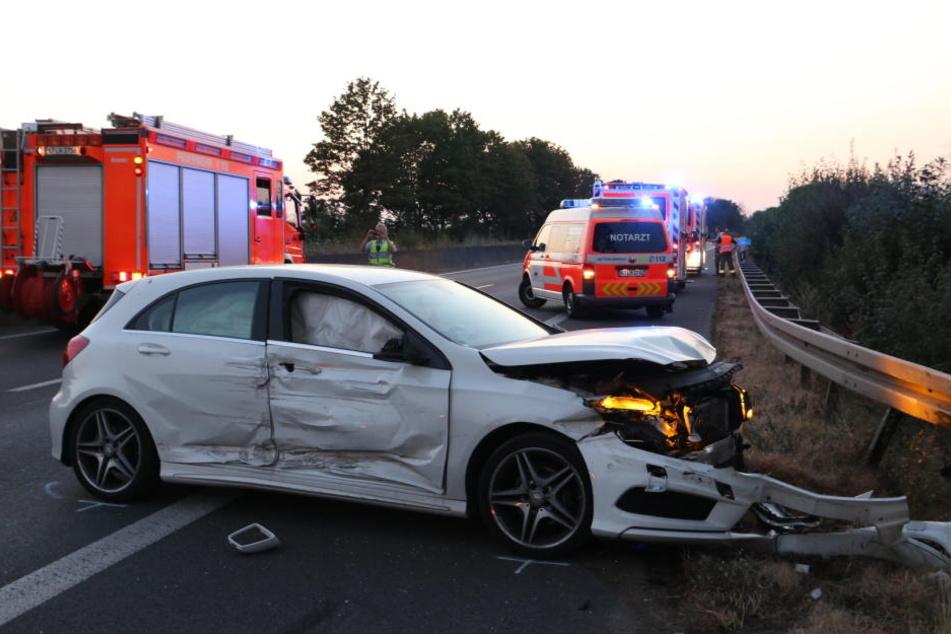Dieses Fahrzeug erlitt einen Totalschaden.
