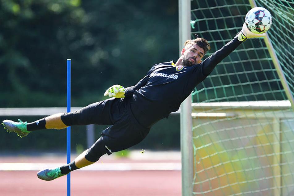 Keine Rotation! Patrick Wiegers wird am Sonntag wieder den Dynamo-Kasten hüten.