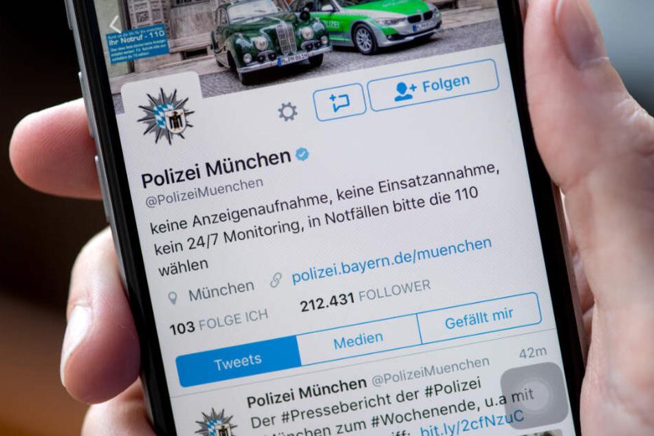 Die Polizei München bekam auf Twitter zahlreichen Nachrichten zu der Messerattacke am Hauptbahnhof. (Archivbild)