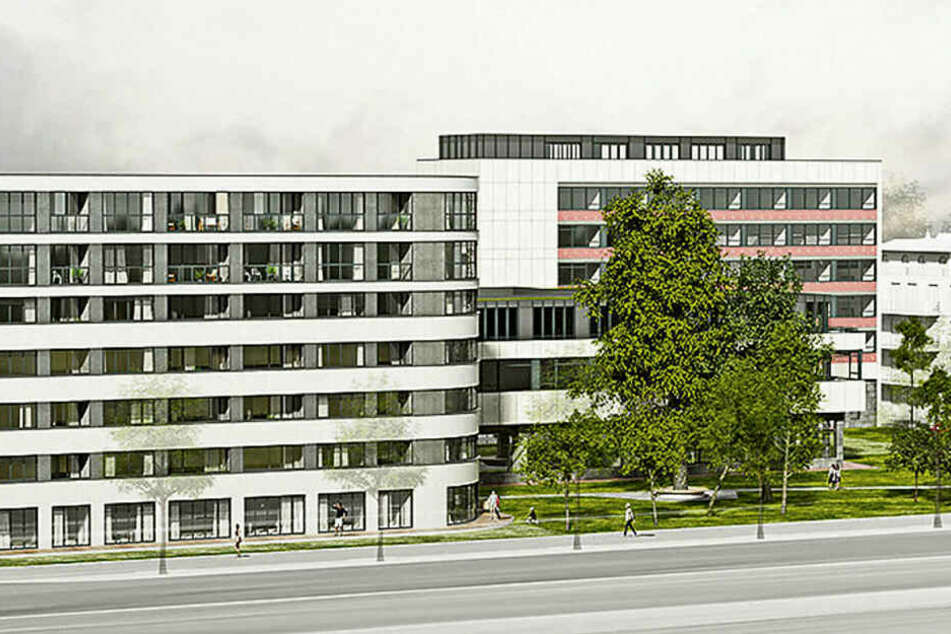 Nach diesem Entwurf des Architekturbüros Homuth+Partner soll das Gästehaus am Park umgebaut und erweitert werden.