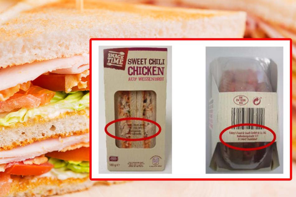 Rückruf! Sandwiches von Aldi mit Keimen belastet