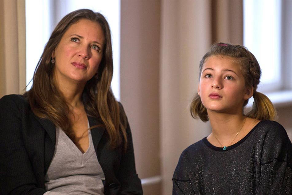 Dana Schweiger und ihre Tochter Emma mussten fliehen.