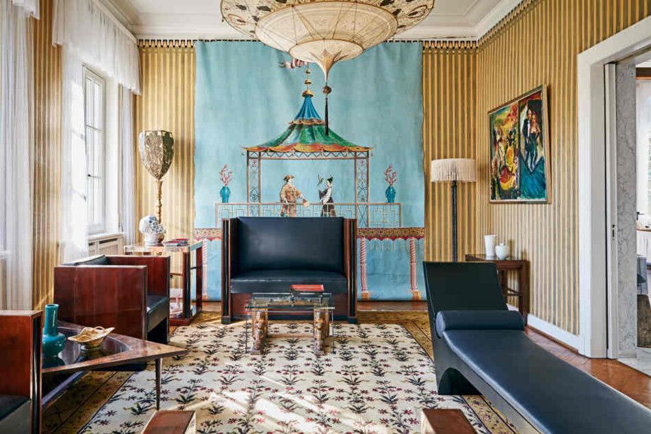 Die Kunstrestauratorin Renate Kant gestaltete die Villa für Lagerfeld.