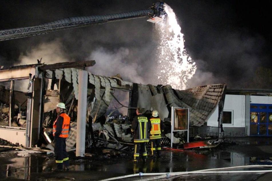 Reste eines Normas: Die Frau hatte das Feuer von außen gelegt.